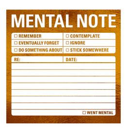 Knock Knock Mental Note Metallic Sticky Notes