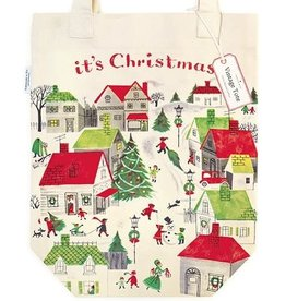 Cavallini Papers & Co. Christmas Village Tote Bag