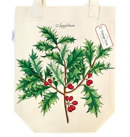 Cavallini Papers & Co. Holly Christmas Tote Bag