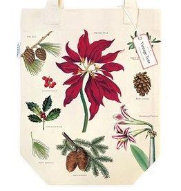 Cavallini Papers & Co. Christmas Botanica Tote Bag