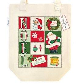 Cavallini Papers & Co. Noel Christmas Tote Bag