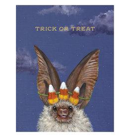 Hester & Cook Trick or Treat Bat Halloween A2 Notecard