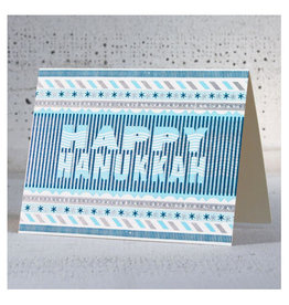 Hammerpress Hanukkah Stripes A2 Notecard