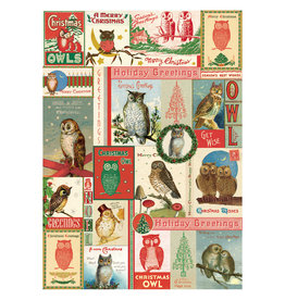 Cavallini Papers & Co. Christmas Wrap Owls
