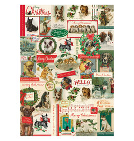Cavallini Papers & Co. Christmas Wrap Dogs