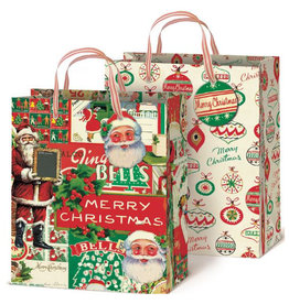 Cavallini Papers & Co. Christmas Gift Bag Set