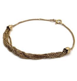 18K Gold 6-Strand Chain Bracelet