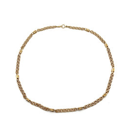 16 Inches Chain 18K Gold Double-Link Heavy Necklace