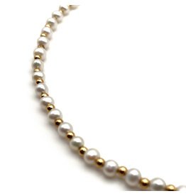 Pearls & 14K Beads Necklace