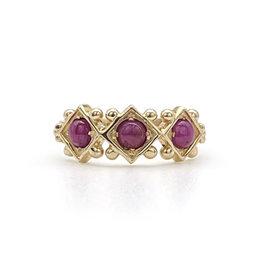 Tagliamonte 14K Textured Gold & 3 Ruby Tagliamonte Ring