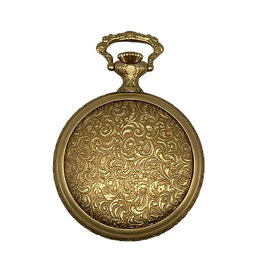 Moeris Gold-Colored Filigree Moeris Pocketwatch