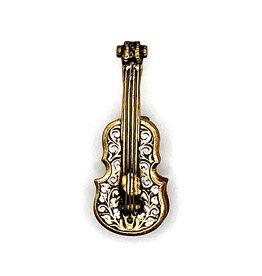 Damascene Spain Guitar Brooch