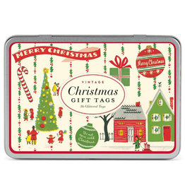 Cavallini Papers & Co. Vintage Christmas 2 Glitter Gift Tags
