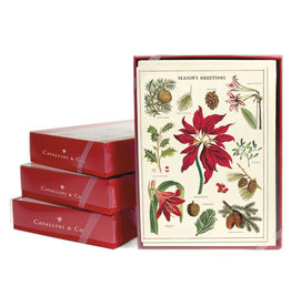 Cavallini Papers & Co. Christmas Botanica Boxed Notecards