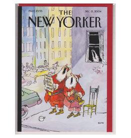 The New Yorker Singing Santas A7 Christmas Notecard