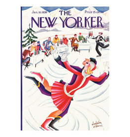 The New Yorker Skating in St. Moritz A7 Christmas Notecard