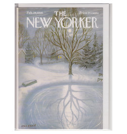 The New Yorker Reflections on Ice A7 Christmas Notecard