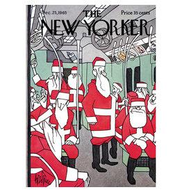 The New Yorker Subway Santas A7 Christmas Notecard