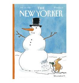 The New Yorker Snowman & Bunny Christmas Notecard