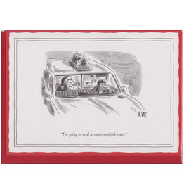 The New Yorker Multiple Stops A7 Christmas Notecard