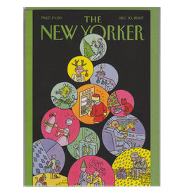 The New Yorker Slice of Life Tree A7 Christmas Notecard
