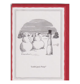 The New Yorker Lookin' Good Frosty! A7 Christmas Notecard
