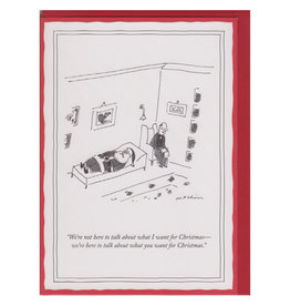 The New Yorker What You Want for Christmas A7 Notecard