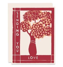 Heartell Press Sending You Love A2 Notecard