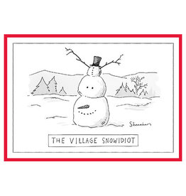 The New Yorker The Village Snowidiot A7 Christmas Notecard