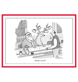 The New Yorker Another Round A7 Christmas Notecard
