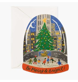 Rifle Paper Co. Skating in the City A2 Christmas Notecard