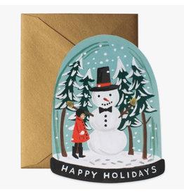 Rifle Paper Co. Snow Globe A2 Die-Cut Christmas Notecard