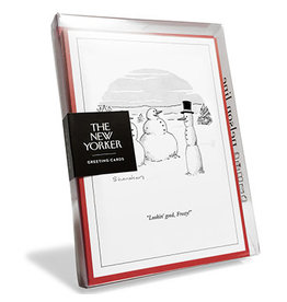 The New Yorker Lookin' Good Frosty! Box of 8 Christmas Notecards