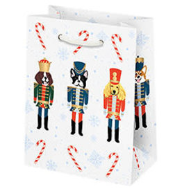 Waste Not Paper Small Nutcracker Dogs Christmas Bag
