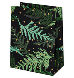 Waste Not Paper Small Holiday Cedar Branches Christmas Bag