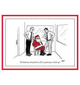 The New Yorker Good Cop or Bad Cop A7 Christmas Notecard