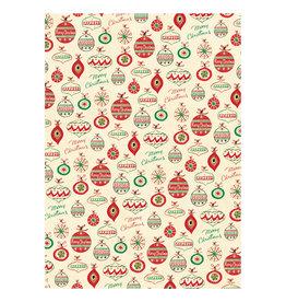 Cavallini Papers & Co. Christmas Wrap Vintage Ornaments