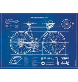 Cavallini Papers & Co. Wrap Bicycle Blueprint