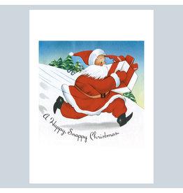 Laughing Elephant A Snappy Santa A7 Christmas Notecard