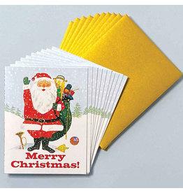 Laughing Elephant Santa Waving LGB A7 Christmas Notecards Box of 10