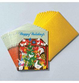 Laughing Elephant Animals' Christmas Tree LGB A7 Notecards Box of 10
