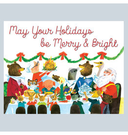 Laughing Elephant Christmas Dinner LGB A7 Notecards Box of 10