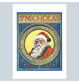 Laughing Elephant Old St. Nick A7 Christmas Notecard