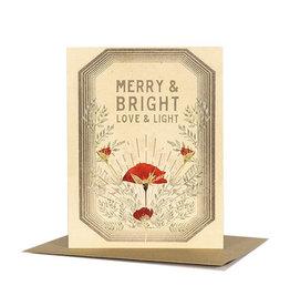 Papaya! Love & Light A2 Christmas Notecard