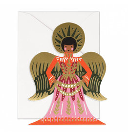 Rifle Paper Co. Happy Holidays Angel Die-Cut A2 Christmas Notecard