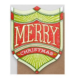 Hammerpress Merry Christmas Badge A2 Notecard