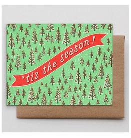Hammerpress Tis the Season Trees A2 Christmas Notecard
