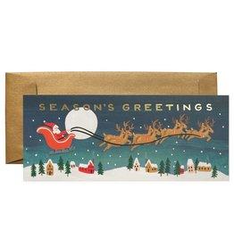 Rifle Paper Co. Santa's Sleigh No.10 Christmas Notecard