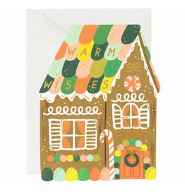 Rifle Paper Co. Gingerbread House Die-Cut A2 Christmas Notecard