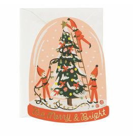 Rifle Paper Co. Merry Elves Die-Cut A2 Christmas Notecard
